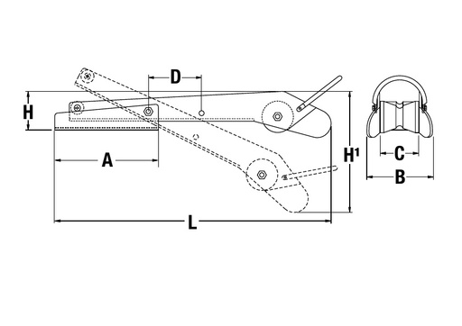 Bow Roller   P104340